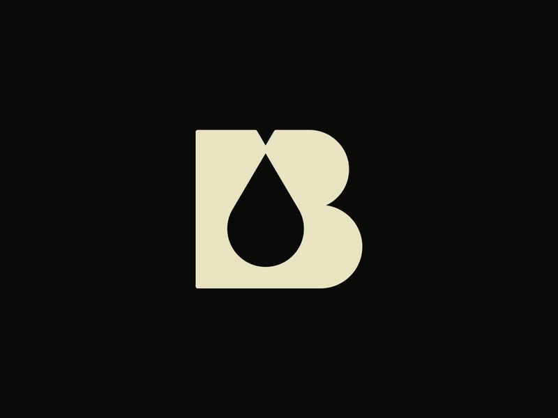 B OIL - Negative space logo clever logo brand icon icon branding identity smart logo brand strategist brand strategy branding studio brand identity logo design vector b icon letter b gas drop oil negative space logo negative space negativespace