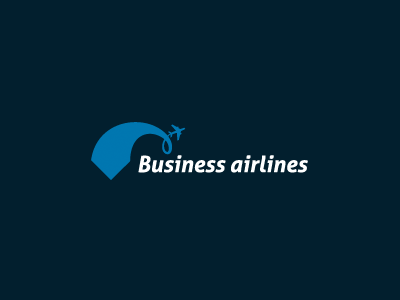 Business Airlines business air airlines airplain tie plane blue all4leo aeroplane leo developer letters navy swoosh iconic logotype logo concept sky aircraft