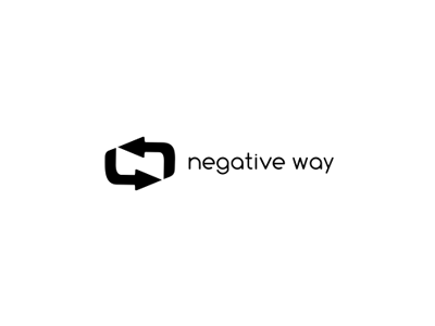 Negative Way negative way arrows white all4leo black logo logotype design arrow n aesthetic negative space
