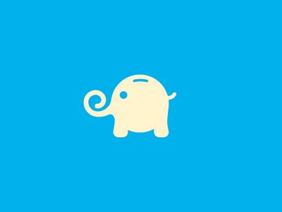 Elephant Bank piggy pig elephant animal logo animal icon elephant logo cute logo design bank logo bank logo piggy bank logo