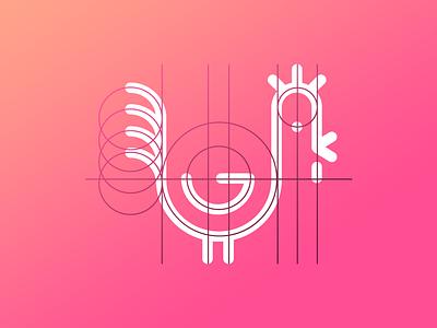 Rooster Logo Scheme rooster logo scheme logo creation circles circles scheme logo scheme bird logo design logo grid grid structure