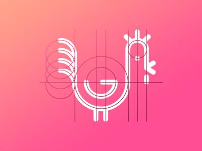 Rooster Logo Scheme