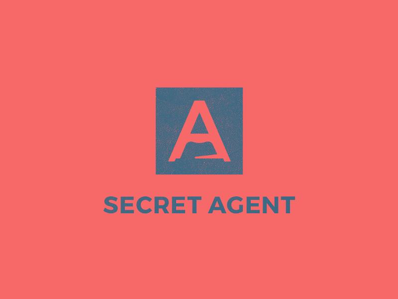 Secret Agent a a icon brand negative space identity logo secret agent hat smart logo logo design clever logo