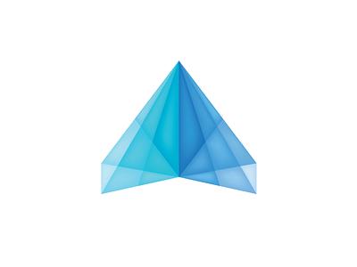 Digital Fly arrow pyramid blue icon corporate logo corporate business icon business logo colorful logo colorful icon colorful fly plane