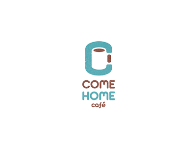 Come Home Cafe coffee cafe come home logo negative space design blue brown white c cup leo all4leo leo logo clever logo negative space logo smart logo c logo cafe logo leologos coffee logo