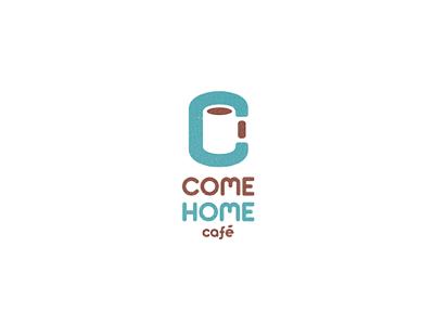 Come Home Cafe coffee cafe come home logo negative space design blue brown white c cup leo all4leo leo logo clever logo negative space logo smart logo c logo cafe logo