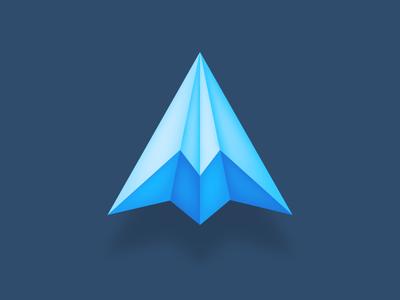 Paper plane + Mountain branding identity brand blue blue logo clever logo smart logo logo icon mountains mountain plane paper plane