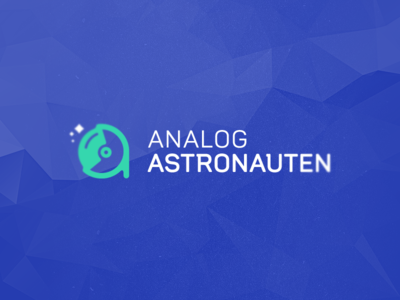 Analog Astronauten brand business logo identity branding cosmonaut a icon clever logos smart logos clever logo smart logo astronaut a