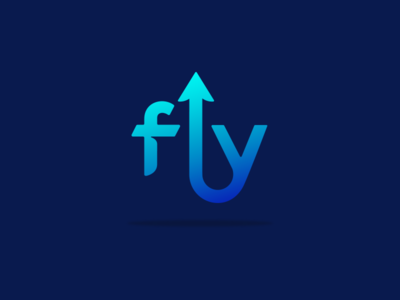 Fly letters creative type blue logo arrow icon arrow clever logos clever logo smart logos smart logo logo design fly