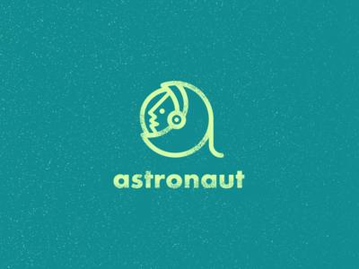 Astronaut space icon idea clever logo smart logo letter a astronaut icon space man cosmos space astronaut