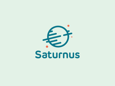 Saturnus Logo Design spin spinning clever logo smart logo planet green logo planet logo space icon cosmos space saturn