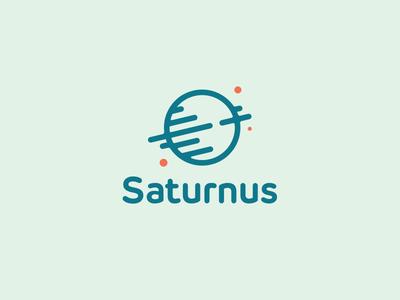 Saturnus Logo Design spin spinning clever logo smart logo planet green logo planet logo space icon cosmos space saturn