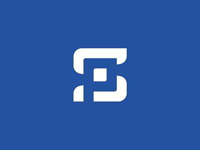S + P p icon p logo s icon s logo blue logo negative space letters sp p s