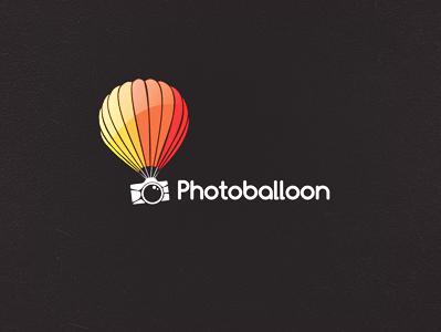 Photo Balloon logo colors colours photo balloon photo balloon colourful balloon logo iconic logo smart logo logo designer photography photography logo colourful logo photo logo icon clever logo