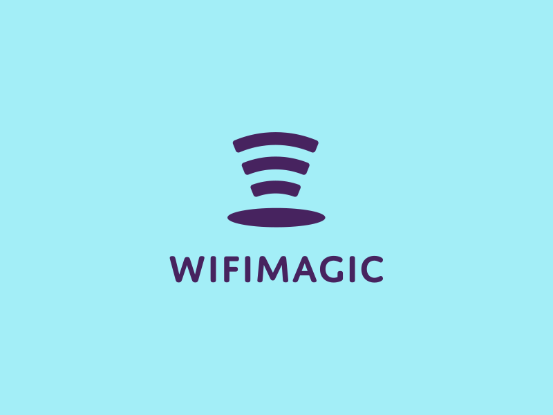 WifiMagic wifi icon logo design clever magic hat idea unique design idea creative identity logo designer contact 🎩 magicial logo design idea connection magic hat magic signal smart logo