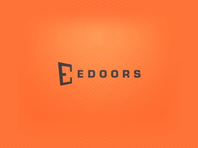 Edoors logo all4leo orange e door doors gray edoors