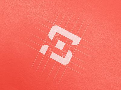 SP Logo Design Grid graphic design design designer logo design p s negative space icon logo icon logo grids logo grid