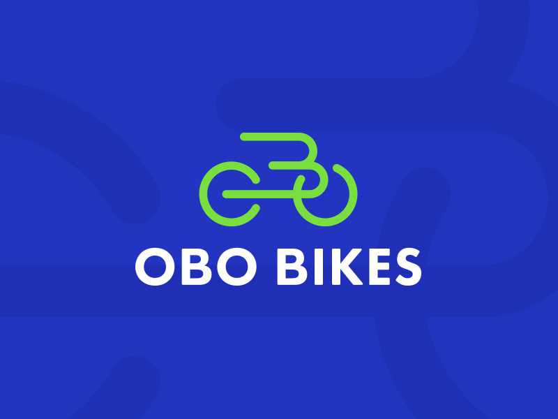 OBO Bikes bikes obo b icon bicycle bike letter b green blue