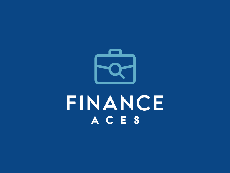 Finance Aces case finance minimal logo logo icon logo design design colorful blue logo blue icon corporate