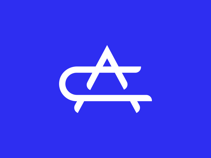CA Monogram c icon a logo a icon c logo blue logo monogram letters ca a c