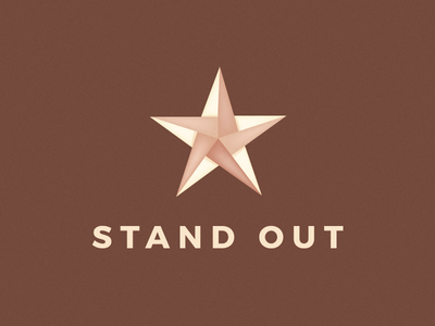 Stand Out Logo icon leo logos iconic paper logo star paper star logo logo design logo origami star origami logo origami