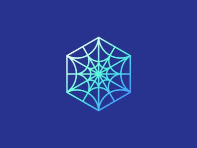 Spider Hexagon branding design icon design logo design logo icon icon bright gradient hexagon hexa
