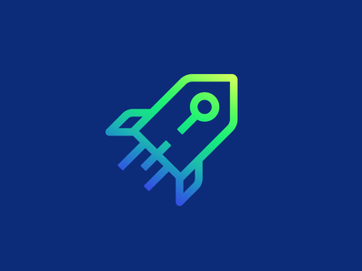 RocketPrice smart logo search logo design icon gradient tag price rocket