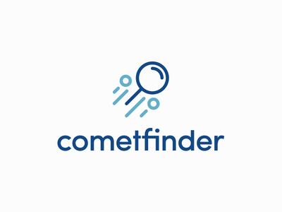 Comet Finder icon design icon logo design finder search find comet cosmos space smart logo