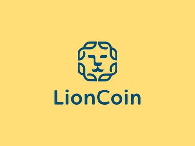 Lion Coin Logo Design