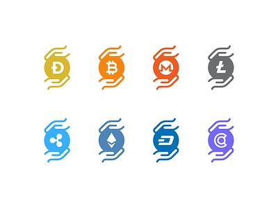 Do you accept crypto? ripple dash ethereum litecoin bitcoin dogecoin crypto design crypto icons crypto icon design freebie icons