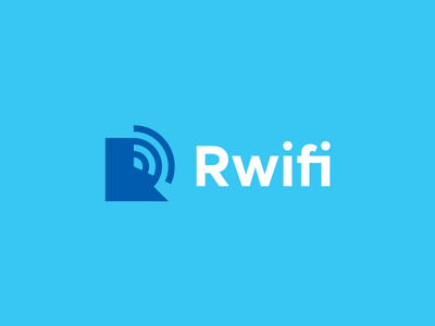 Rwifi wifi signal gradient logo design wifi logo logo design identity branding r logo