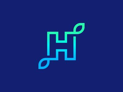 Harvest smart logos logo icon icon logo design design logo bright letter h h gradient harvest