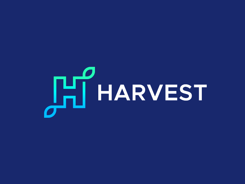Harvest - Full Logo harvest gradient h letter h bright logo design logo design icon logo icon smart logos