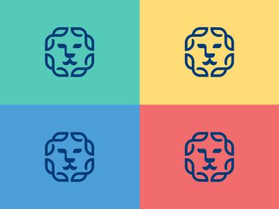 Lion Logo Colors