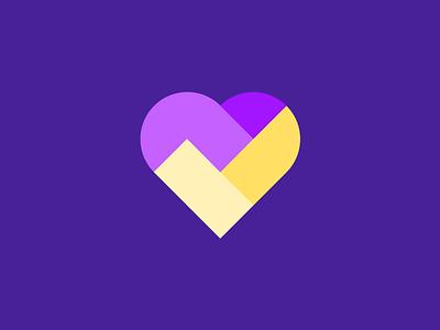 HeartCheck check icon heart icon logo icon logo design smart blocks icon logo check heart