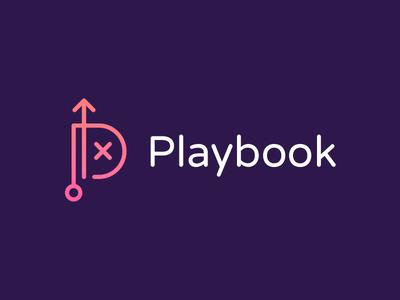 Playook logo play playbook logo logo design identity icon branding monogram logo monogram p logo p b