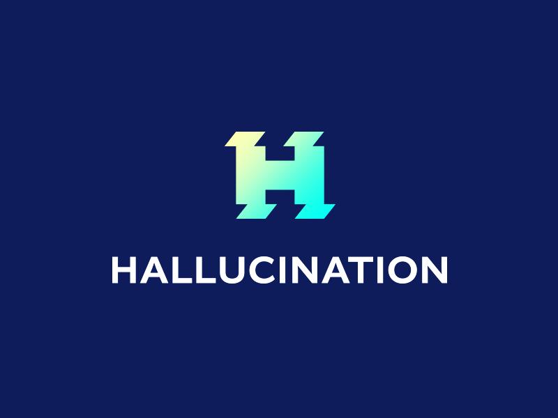 Hallucination bright design h letter logo icon h logo design concept clever design concept smart logos gradient style logo hallucination icon
