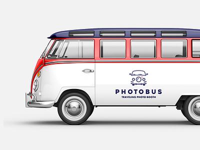 PhotoBus on Bus bus logo photo bus car logo logo design branding identity lens photo photo booth smart logos clever logotype idea smart logo design