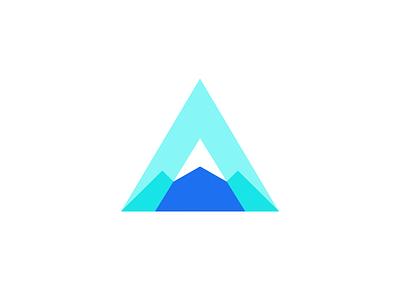 A Mountain annapurna everest logo icon design logo design logo designer branding identity mountain logo smart logos letter a icon austen a logo