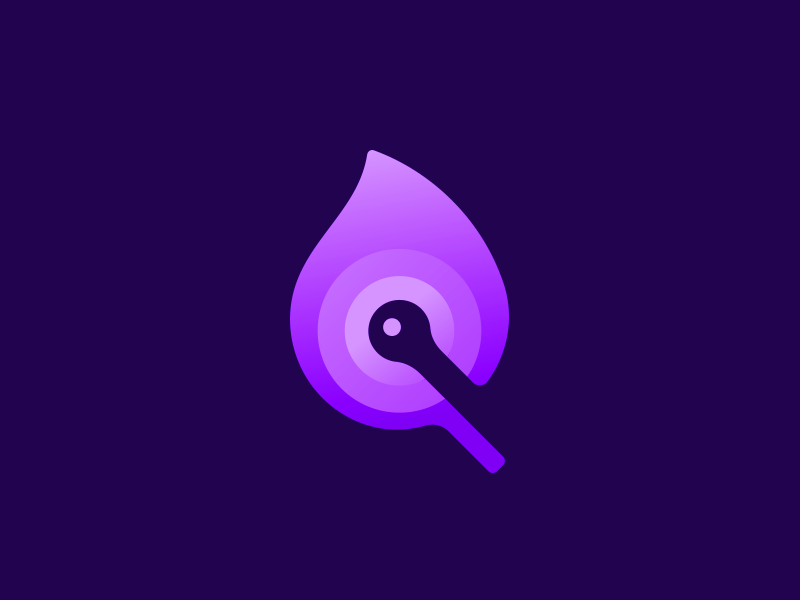Purple Flame smart logo light on fire fire gradient layers purple logo negative space icon gradient logo icon fire creative logo 🔥 negative space logo design smart logos logo purple flame logo designer logo design logo icon flame purple