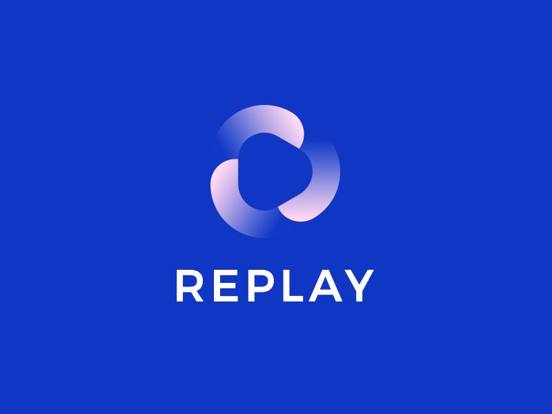REPLAY leologos branding identity design logo design smart logo replay icon replay logo loading load replay