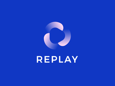 REPLAY leologos branding identity design logo design smart logo replay icon replay logo loading load replay