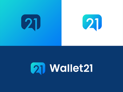 21 Logo Project 👍 💬 forum idea branding identity number 21 chat crypto cryptocurrency cryptocurrencies