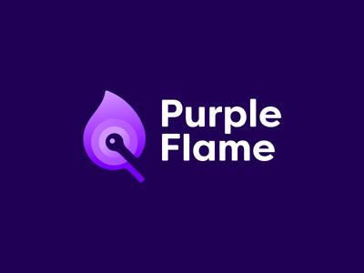 Purple Flame Logo