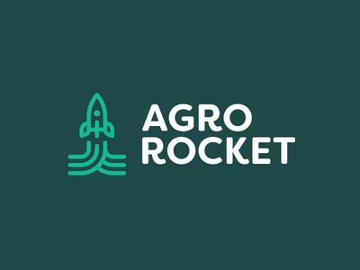 Agro Rocket Logo smart logo logo design icon rocket icon fields icon 🚀 up rocket identity branding agroculture agro green logo design