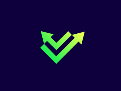 Trading App Logo Icon logo designer logo branding clever logo logo icon crypto trading green logo arrows arrow trade ✅ check mark check negative space identity icon logo design smart logos smart logo
