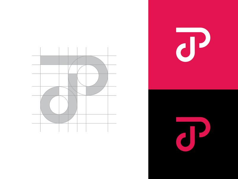 Logo Grid creative illustration typography p j t monogram smart logos logo icon clever logo branding identity icon logo design smart logo logo design grid design grid logo grid