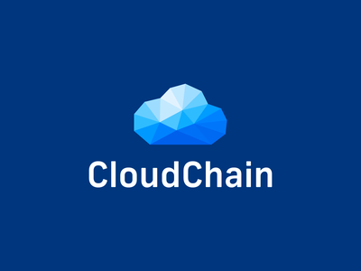 Cloud Logo logo icon polygons poly polyart chain clouds cloud creative graphic design identity blue branding crypto blockchain cryptocurrency design logo smart logo logo design blockchain block chain