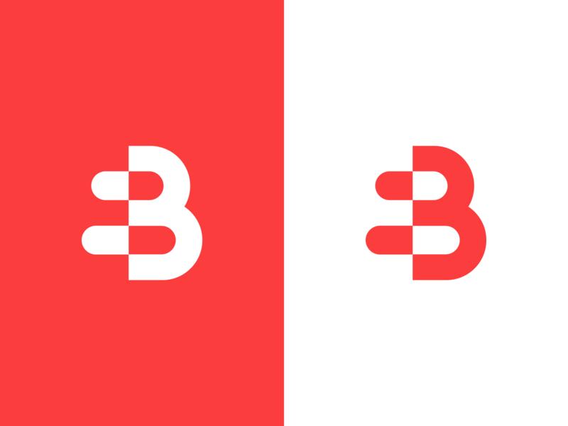 B + Pills medical app medical pharmacy b logo creative red logo logo design logo designer smart logos logo icon clever logo branding identity icon smart logo negative space b pills pill