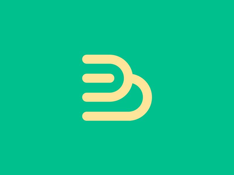 B Fork logo icon clever logo vector creative smart logos logo designer yellow green branding identity icon logo smart logo design restaurant logo food letter b b fork logo design